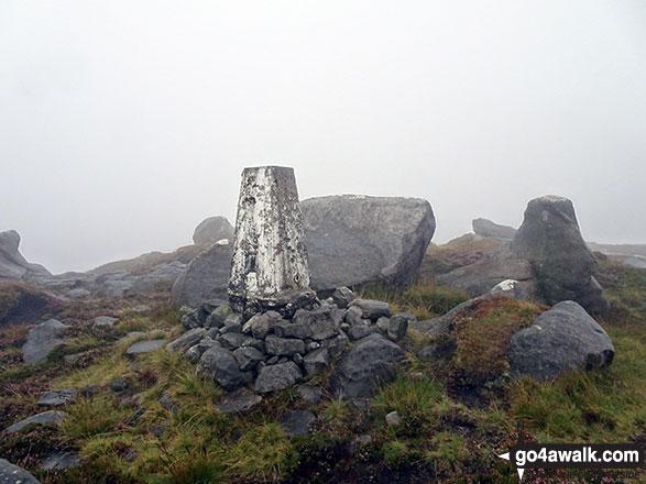 Wolfhole Crag summit trig point