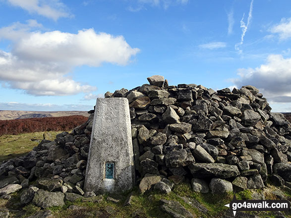 Alphin Pike summit cairn and trig point