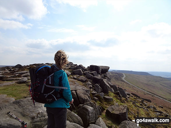 Admiring the view from Stanage Edge (Stanage Edge)