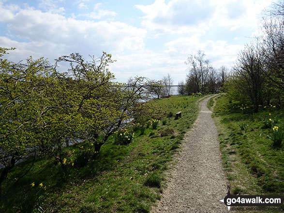 Lovely path by Watergrove Reservoir back to the start