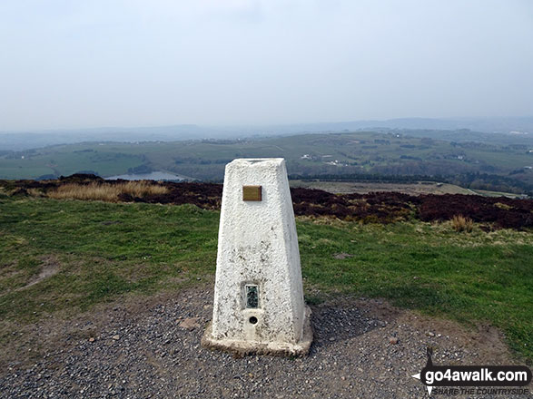 Darwen Hill (Darwen Moor) summit Trig Point