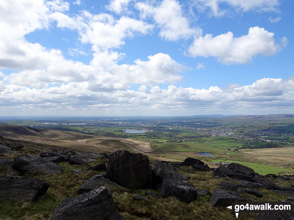 Littleborough and Hollingworth Lake from the summit of Blackstone Edge