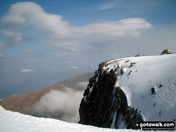 Looking East to the summit of Ben Nevis under a blanket of snow