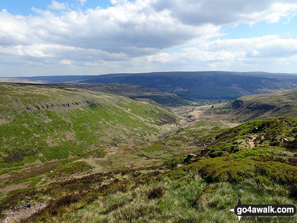 The glorious view of the Crowden Brook Valley from Laddow Rocks