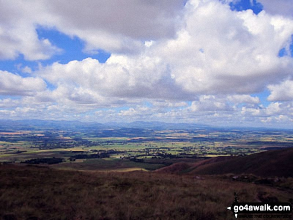 View from High Cap on the way up Cross Fell