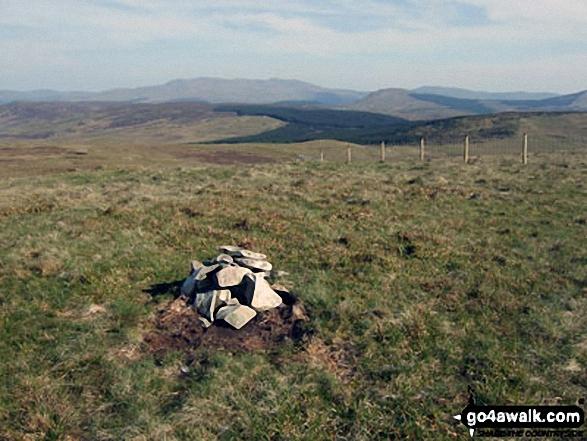 Foel Boeth (Arenigs) summit cairn. Walk route map gw133 Arenig Fawr and Moel Llyfnant from Pont Rhyd-y-Fen photo