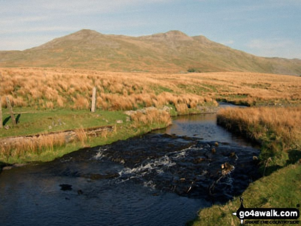Arenig Fawr and Arenig Fawr (South Top) from the bridge over Afon Amnodd-bwll