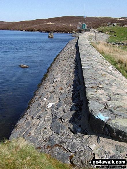 Llyn Arenig Fawr Dam. Walk route map gw138 Arenig Fawr from Pont Rhyd-y-Fen photo