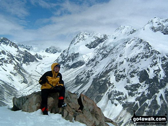 """""""moi"""" on Mount Olivier in Mount Cook  New Zealand"""