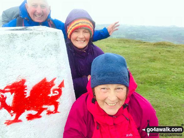On the summit of Mynydd Troed