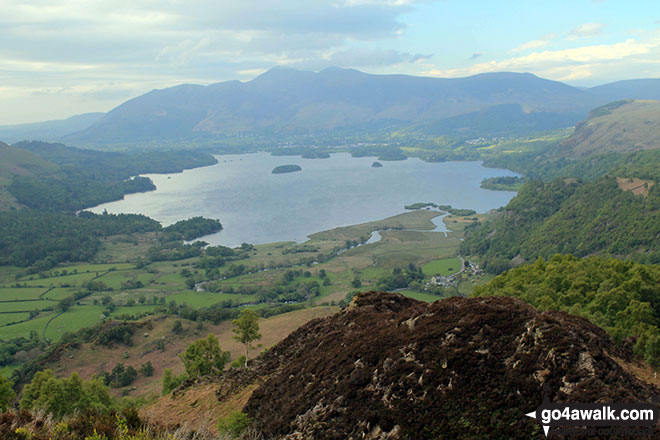 Derwent Water, with Skiddaw and Blencathra beyond from the summit of King's How