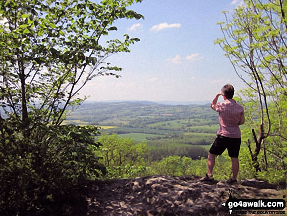 """Looking out over Wenlock Edge on my first """"proper"""" walk after major surgery in March May 2012"""