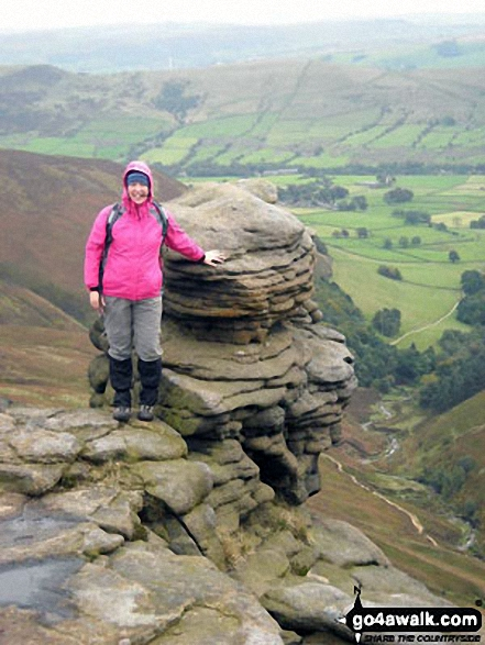 On the Kinder Scout plateau. Walk route map d296 Jacob's Ladder and Kinder Scout from Edale photo