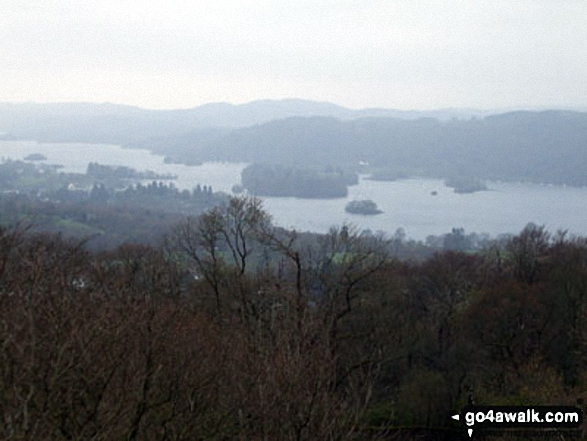 Windermere from a wet and rainy Orrest Head