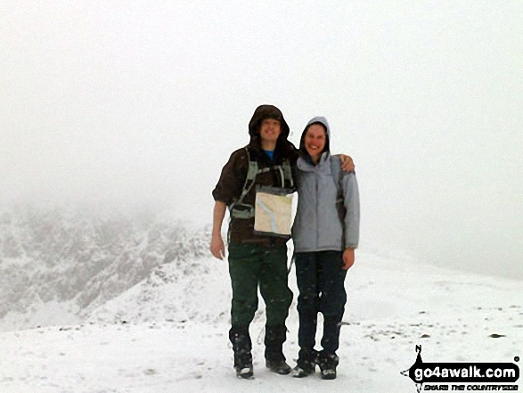 Russ and Me on the summit of Red Pike (Buttermere) in the snow