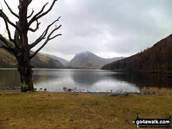 Fleetwith Pike across Buttermere. Walk route map c228 Hay Stacks from Buttermere photo