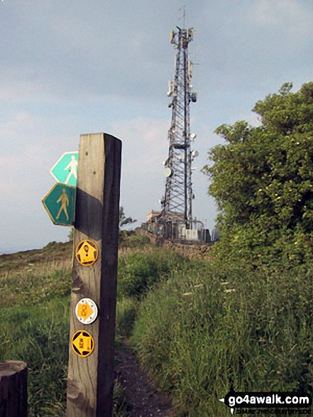 Telecommunications Mast on Mow Cop (Old Man of Mow) summit