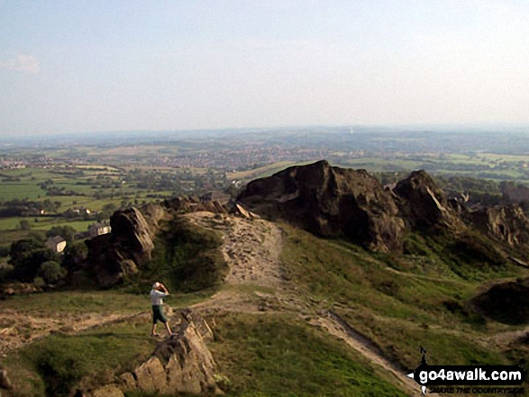 On the summit of Mow Cop (Old Man of Mow)