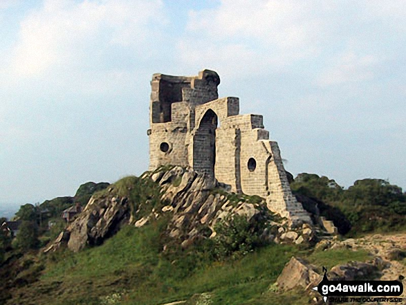 Walk Mow Cop (Old Man of Mow) walking UK Mountains in   Staffordshire    England