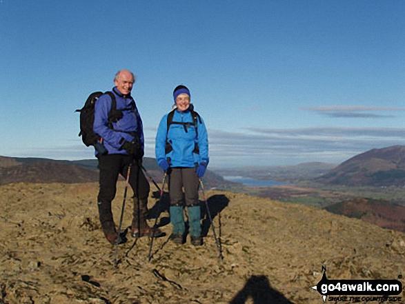 David & Judith on Cat Bells walk The Lake District Cumbria England walks