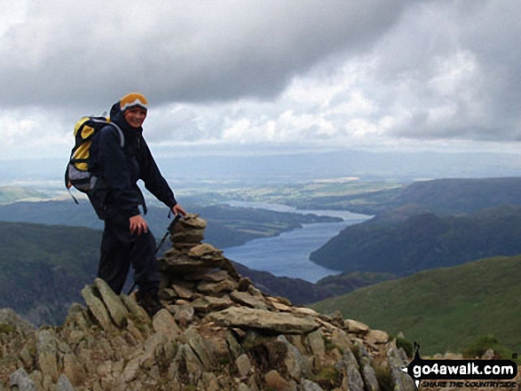 My son David on Catstycam walk The Lake District Cumbria England walks