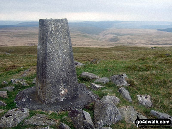 The trig point on Drygarn Fawr
