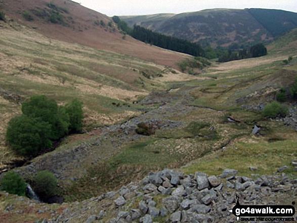 Cwm Marchnant with Rhos y Gelynnen beyond