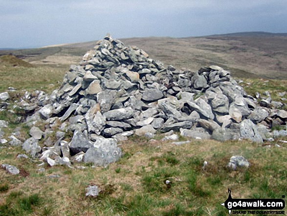 Large cairn on the summit of Carnau
