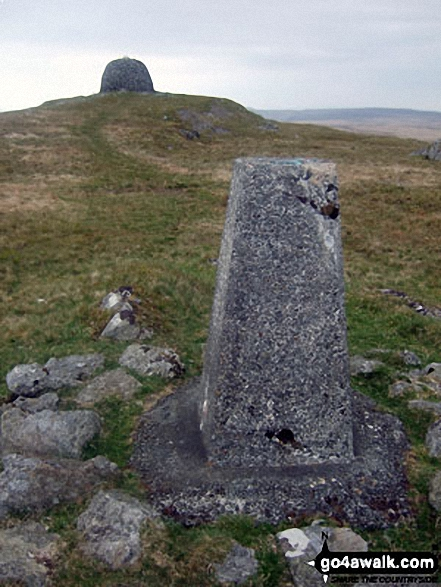 Drygarn Fawr summit and trig point