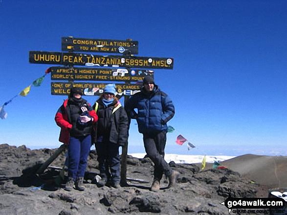 Me, Jane & Catrina on Kilimanjaro walk Kilimanjaro National Park  Tanzania walks