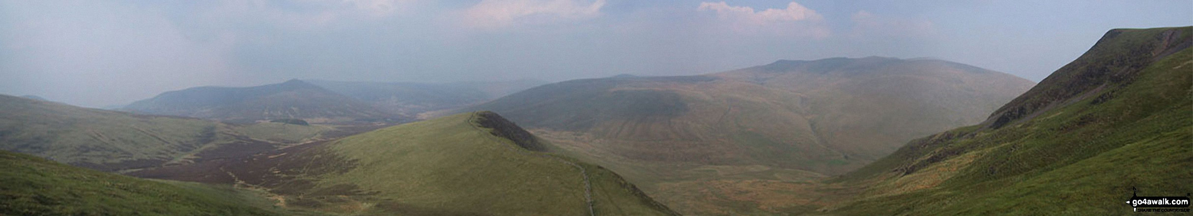 Great Calva, Burnt Horse, Blencathra (Saddleback) and Lonscale Crags from (North of) Lonscale Fell