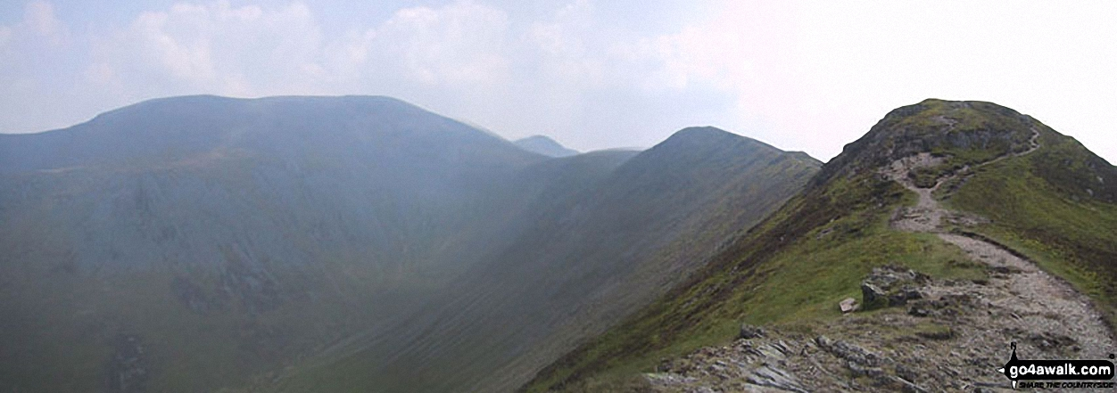Skiddaw, Little Man (Skiddaw), Carl Side, Longside Edge and Ullock Pike from The Edge