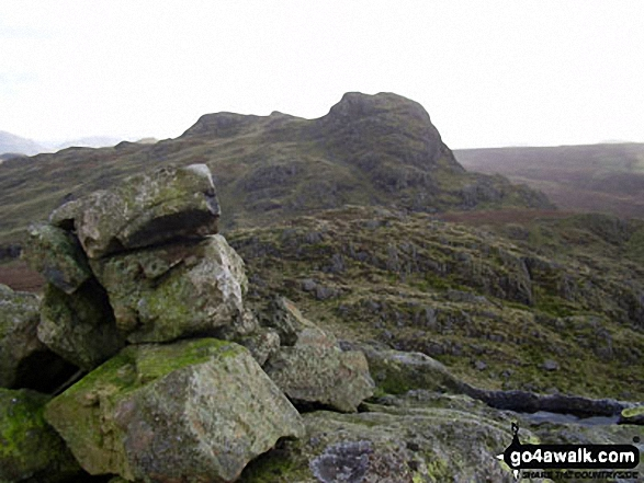 Green Crag from the summit cairn on Crook Crag