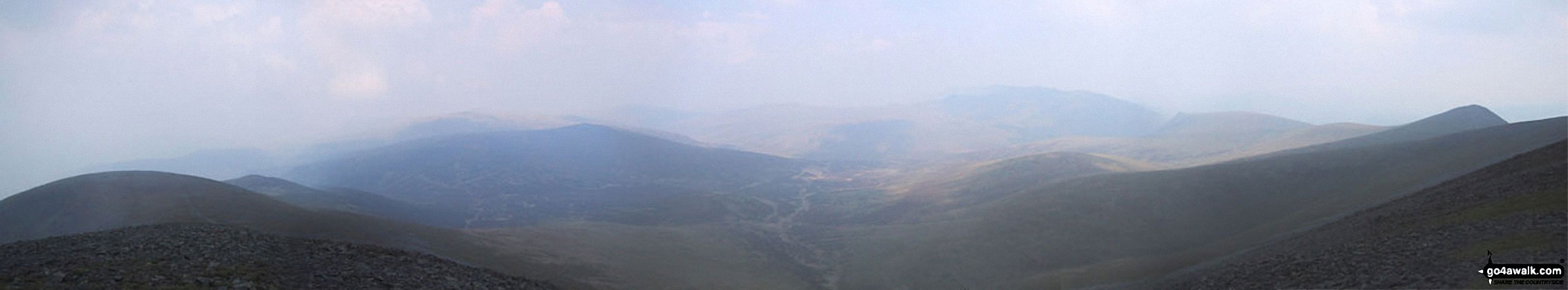 *Bakestall, Great Calva, Skiddaw House, Blencathra (Saddleback) and Lonscale Fell from Skiddaw