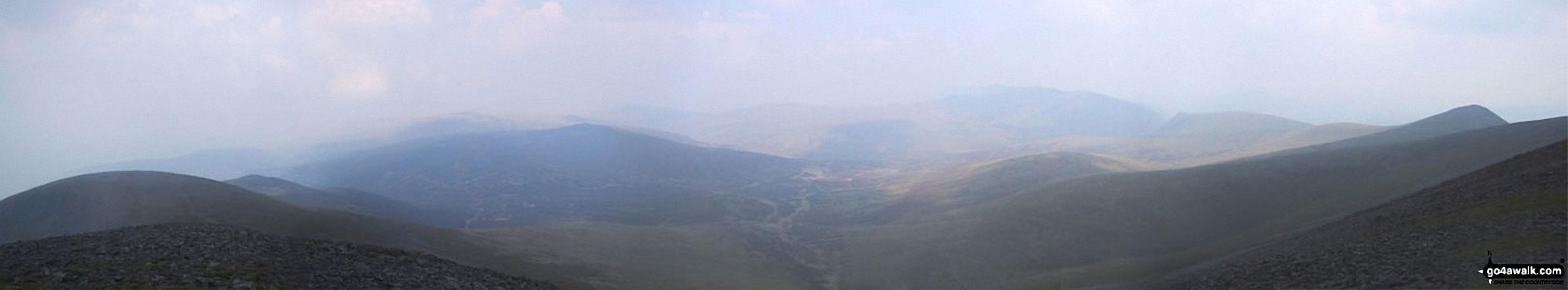 *Bakestall, Great Calva, Skiddaw House, Blencathra (Saddleback) and Lonscale Fell from Skiddaw