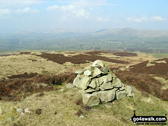 The summit cairn on Lambrigg Fell