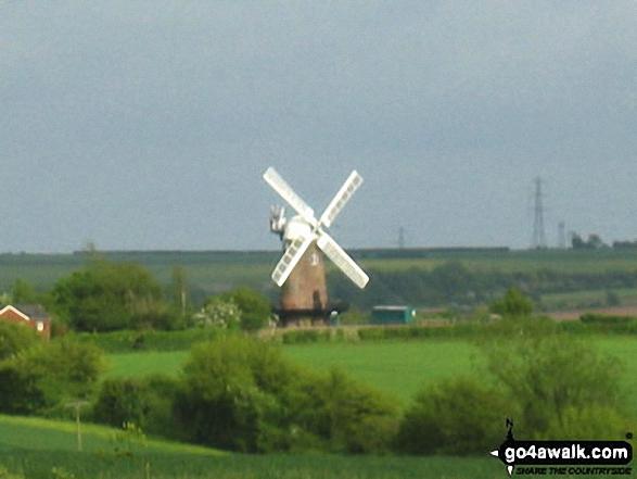 Wilton Windmill from near Bedwyn Brail. Walk route map wi102 Wilton Windmill from Great Bedwyn photo