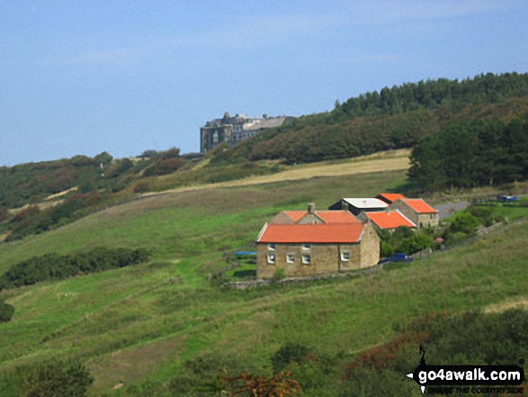 Raven Hall Hotel, Ravenscar from The Cleveland Way