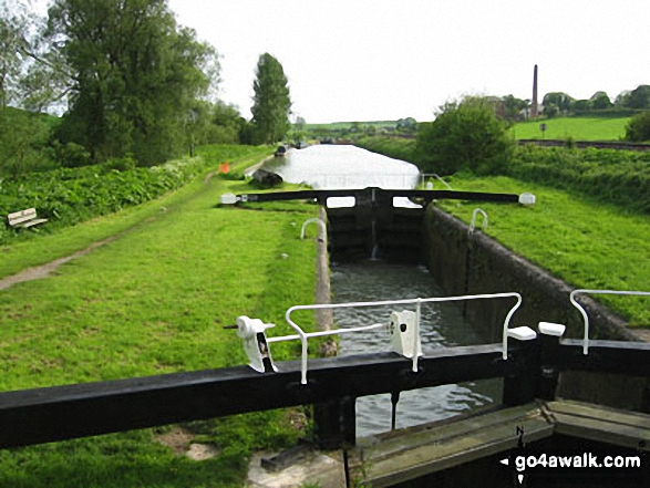 Locks on the Kennet and Avon Canal. Walk route map wi102 Wilton Windmill from Great Bedwyn photo
