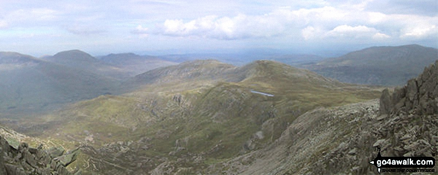 *Looking SE towards Capel Curig from Glyder Fawr