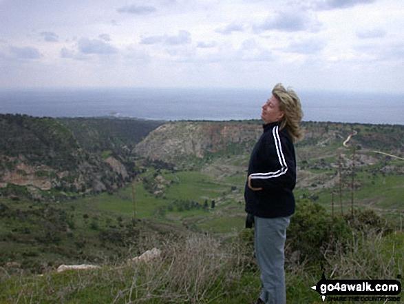 Myself taking a breath of fresh air!! on Mount Olympus walk Troodos Mountains Cumbria Cyprus walks