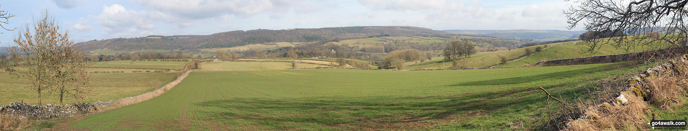 The view from the trig point on Noton Barn