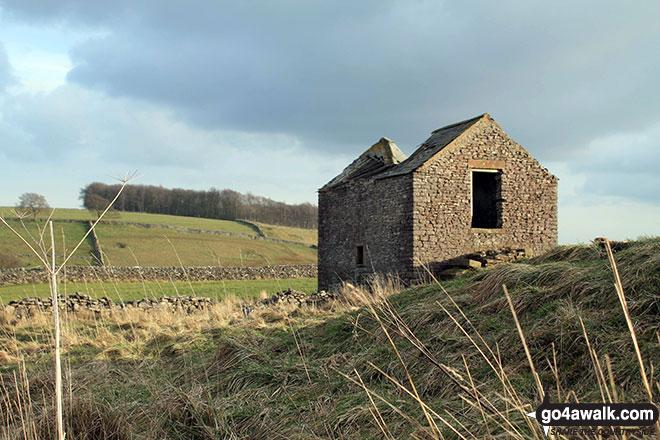 Ruined stone barn near Sheldon