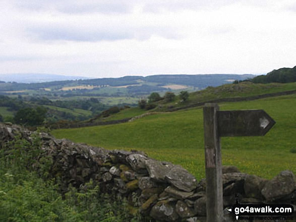 The Dales Way near Hag End Farm
