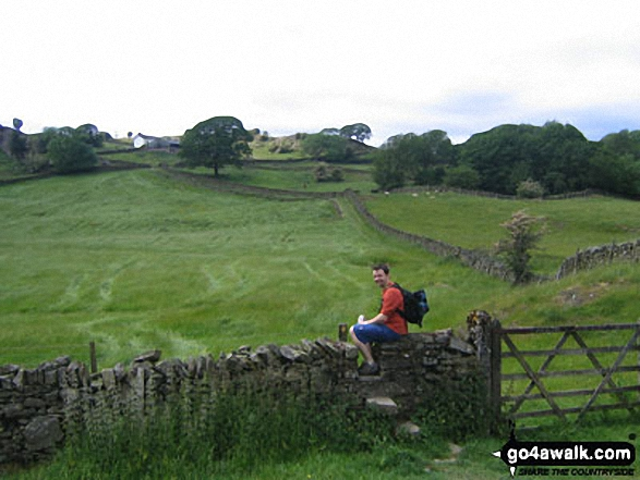The Dales Way near Crag House Farm