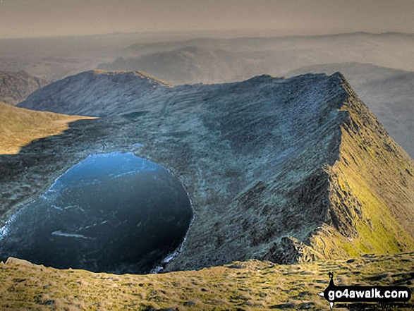 Red Tarn (Helvellyn) and Striding Edge from Helvellyn summit