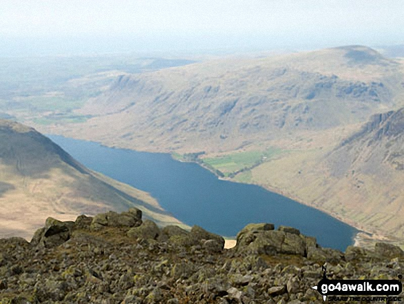 Wast Water from the summit of Sca Fell