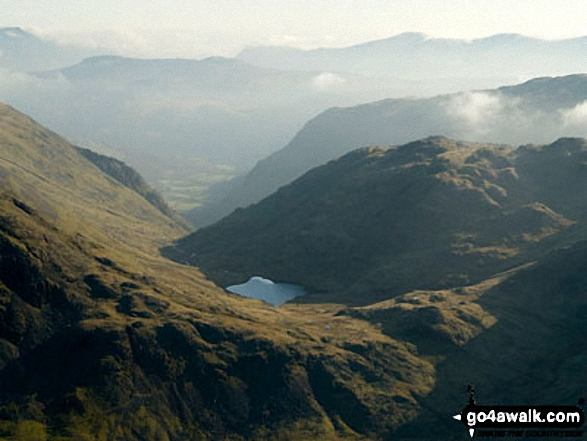 Seathwaite and Borrowdale beyond Styhead Tarn from Lingmell