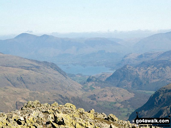 Derwent Water from Great End summit. Walk route map c453 The Scafell Mountains from Wasdale Head, Wast Water photo