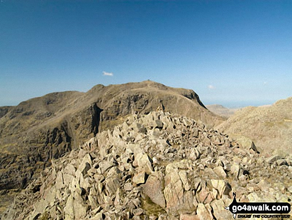 Ill Crag summit with Scafell Pike beyond